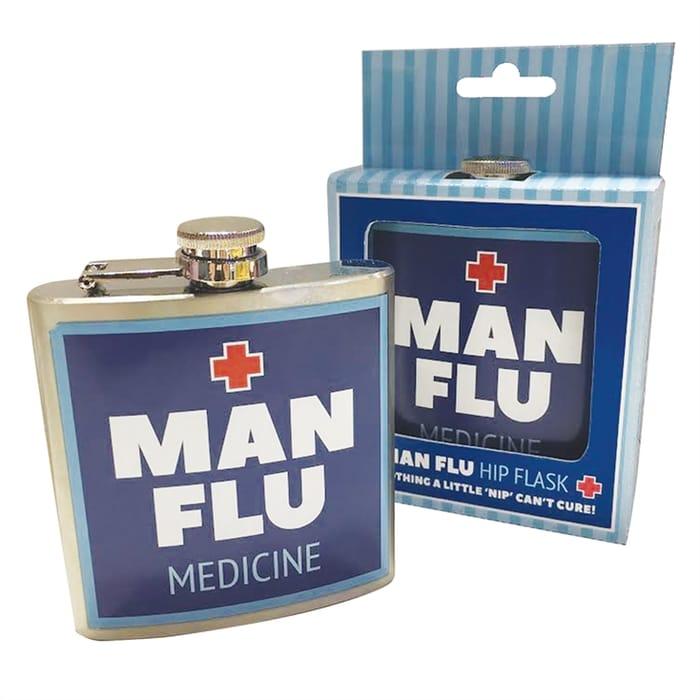 Man Flu Hip Flask