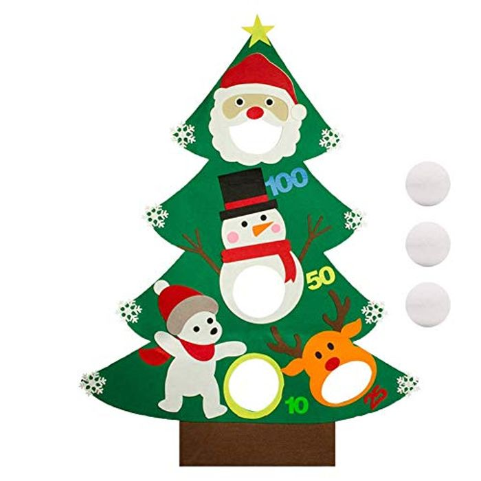 Christmas Toss Games with 3 Pcs Throwing Snowballs