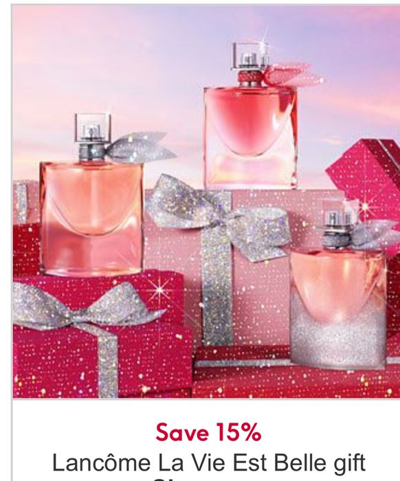 "15% off on Lancme La Vie Est Belle Sets"" 2 Sets Available"