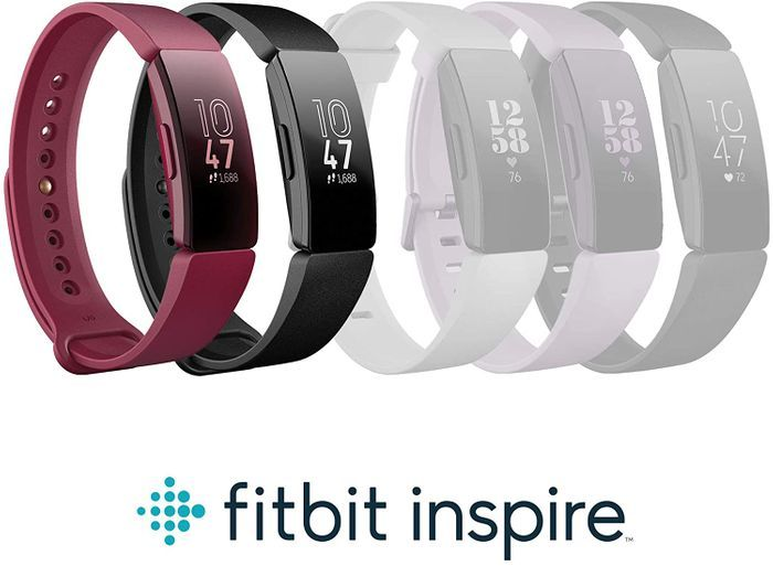 SAVE £24.40 - Fitbit Inspire Health & Fitness Tracker - Sangria