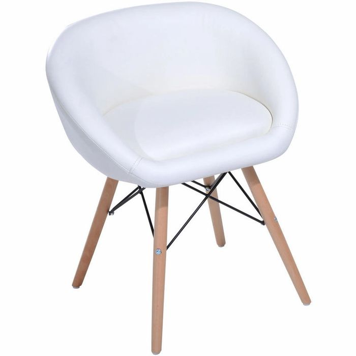 HOMCOM Faux Leather Padded Chic Dining Chair