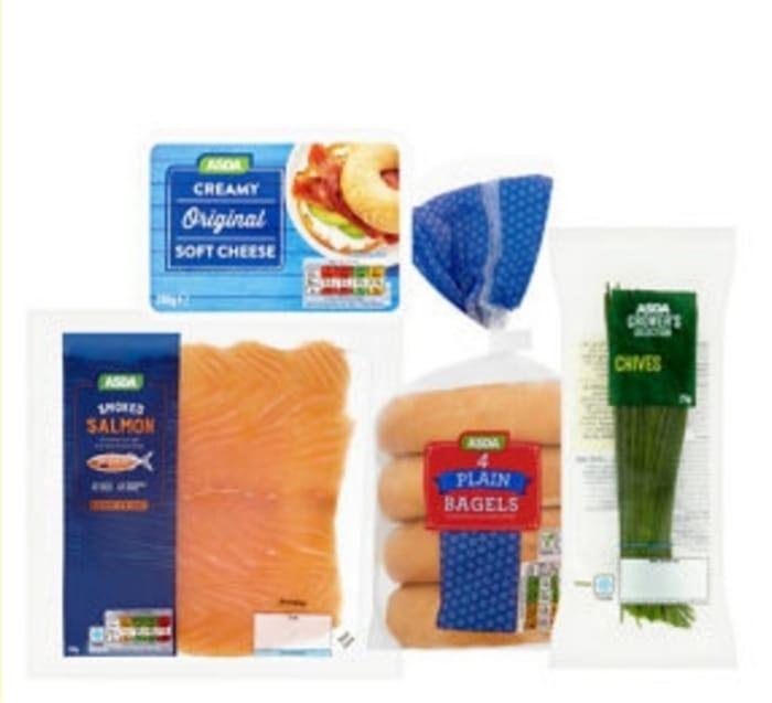 ASDA Salmon & Cream Cheese Bagels Bundle