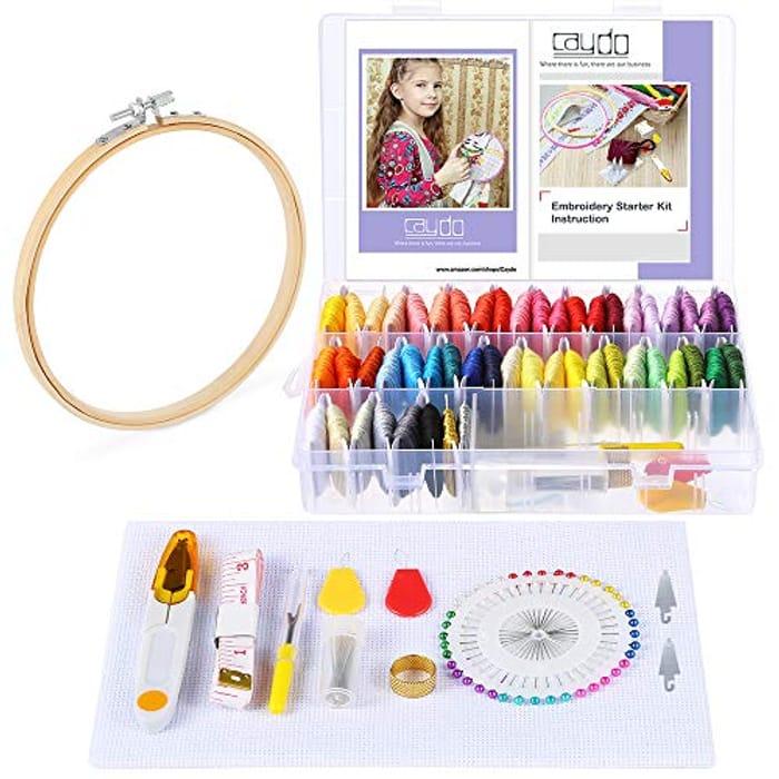 131 Pcs Embroidery Starter Kit - Only £5.50!