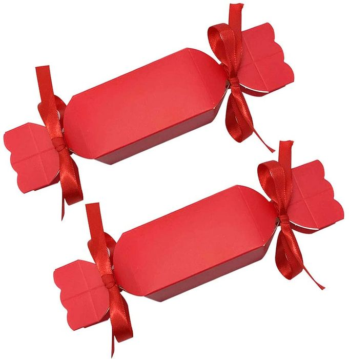50 Pcs Christmas Cracker Sweet Gift Boxes, with Ribbons