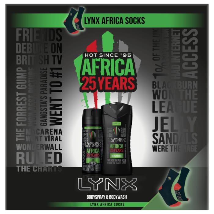 LYNX Africa 25 Years Duo & Socks Gift Set
