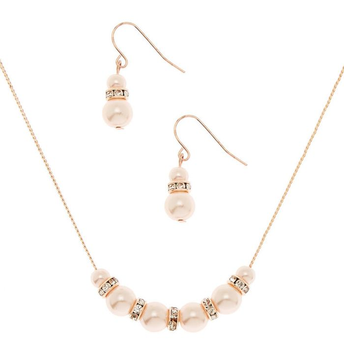 Rose Gold Pearl Classic Jewellery Set - 2 Pack
