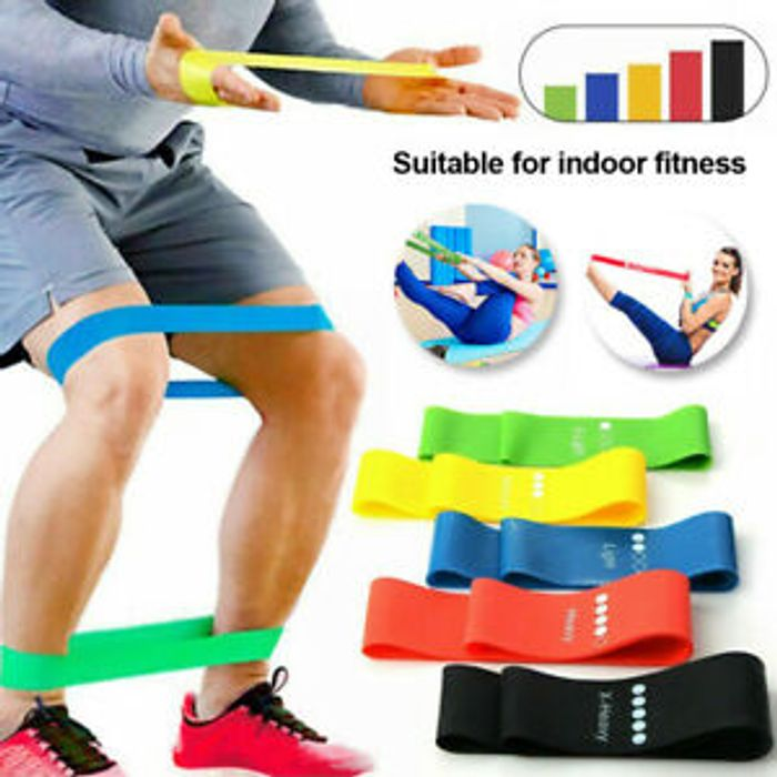 Cheap 5 Resistance Bands and Bag - Only £5.99!