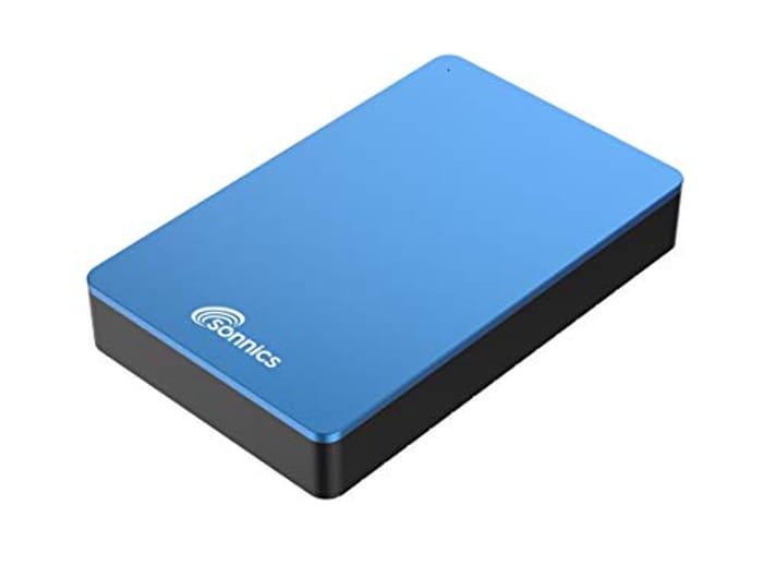 Sonnics 750GB Blue External Desktop Hard Drive USB 3.0 for Use with Windows PC