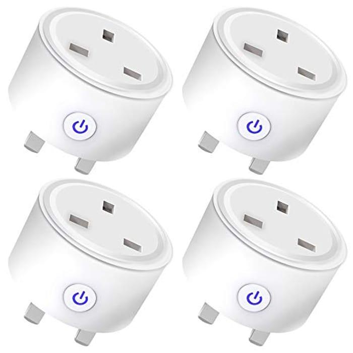 4 Pack Smart Plug, WiFi Plugs Socket
