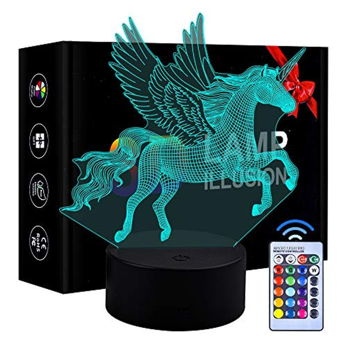 Colour Changing 3D Night Light with Remote Control