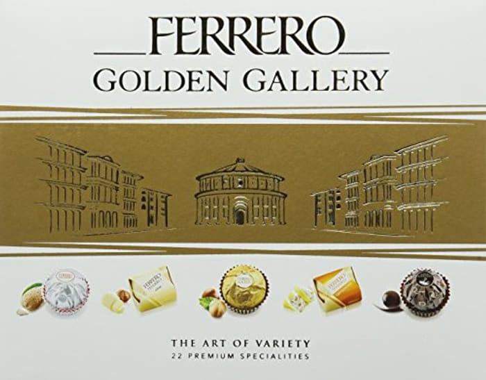 Ferrero Chocolate Golden Gallery, 22 Assorted Chocolates, 205 G