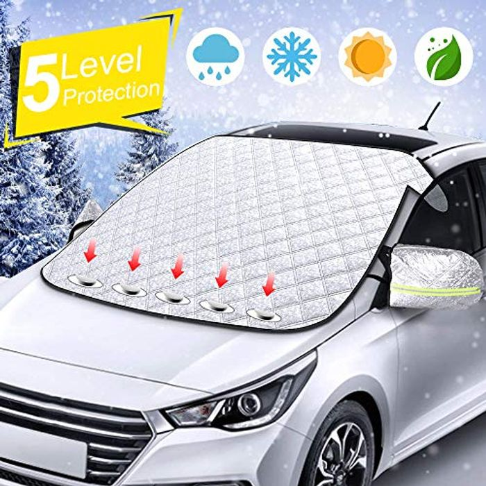 Price Drop! Car Windscreen Frost Cover with Side Mirror Cover