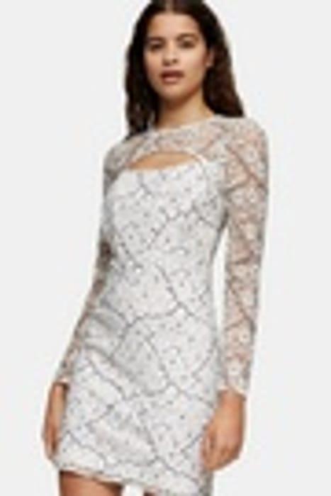 Lace Bodycon Cut out Mini Dress