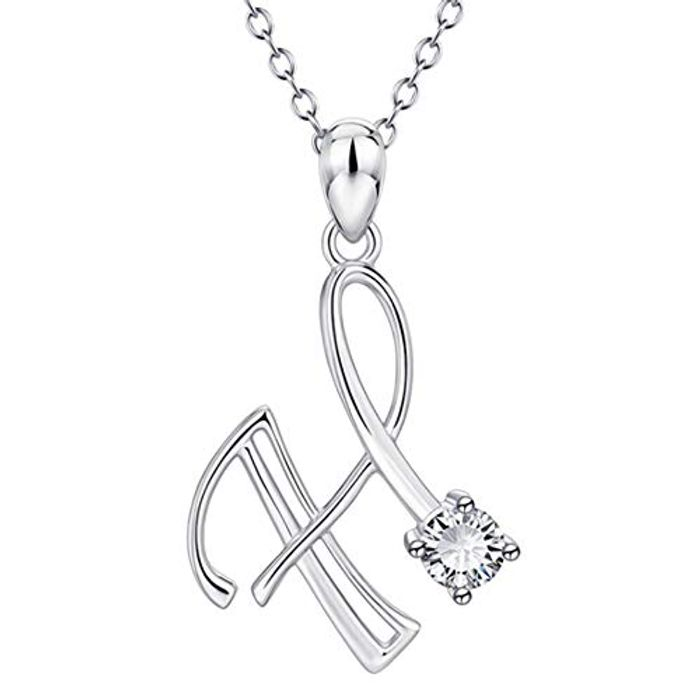 Silver A-Z Letter Necklace (Code & 10% Voucher)