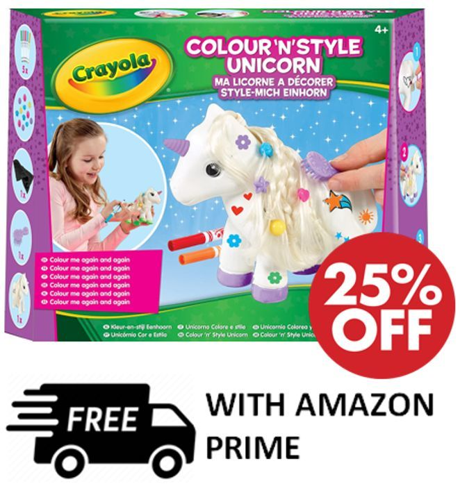 Cheap Crayola Colour 'N' Style Unicorn Craft Kit reduced by £2!