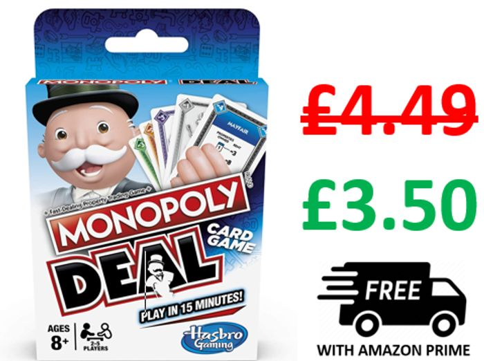 CHEAP! Stocking Filler - Monopoly Deal Card Game - £3.50 (Prime)