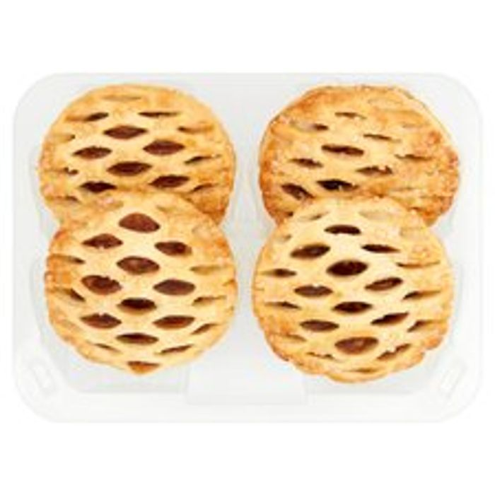 Tesco Puff Pastry Mince Pie/ Lattice Top Mince Pies 4 Pk - Buy 2 for £1.50
