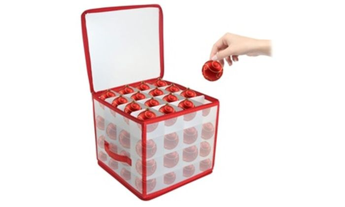 Christmas Bauble Storage Box for 64 Baubles