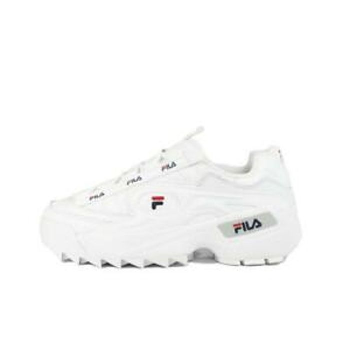 Womens Fila D-Formation White Trainers