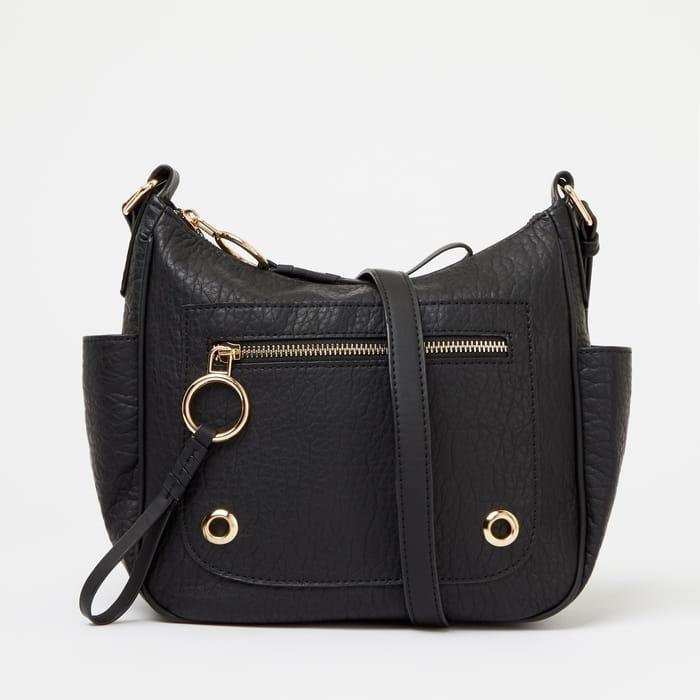 Mantaray - Black 'Pembroke' Washed Cross-Body Bag