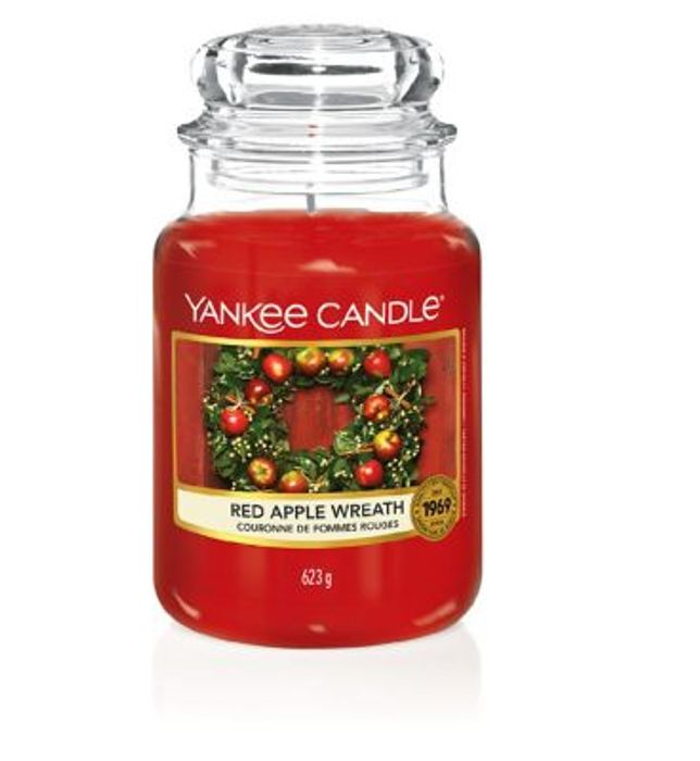 Yankee Candle Classic Large Jar Red Apple Wreath