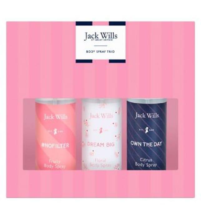 Jack Wills Ladies Body Spray Trio Christmas Gift Set Only £5