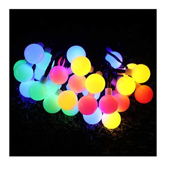 Lightning Deal! Globe Fairy String Lights Solar 7M 50 LED Outdoor