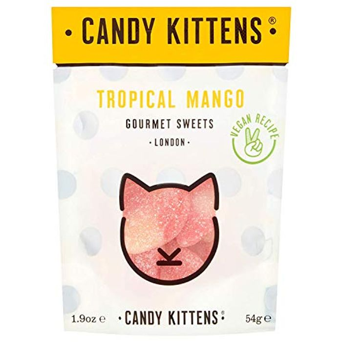 Candy Kittens Tropical Mango Vegan Sweets - Palm Oil Free - Only £1!