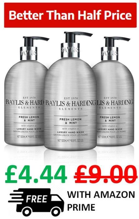 Baylis & Harding 'Elements' FRESH LEMON & MINT - Luxury Hand Wash