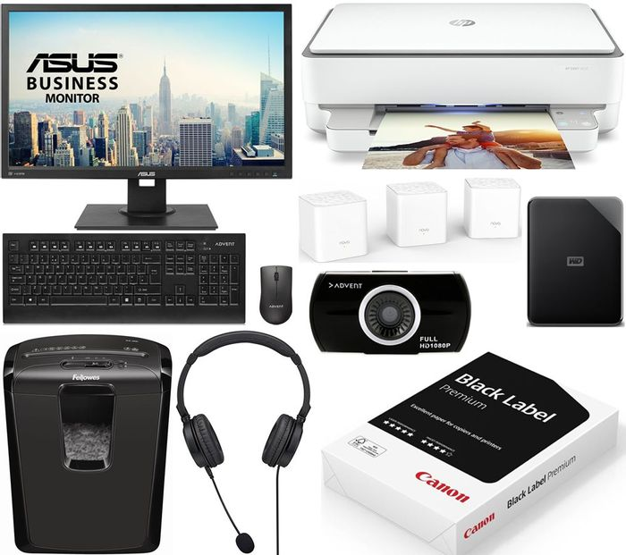 ASUS Complete Home Office Bundle - Monitor, Keyboard & Mouse, and Loads More
