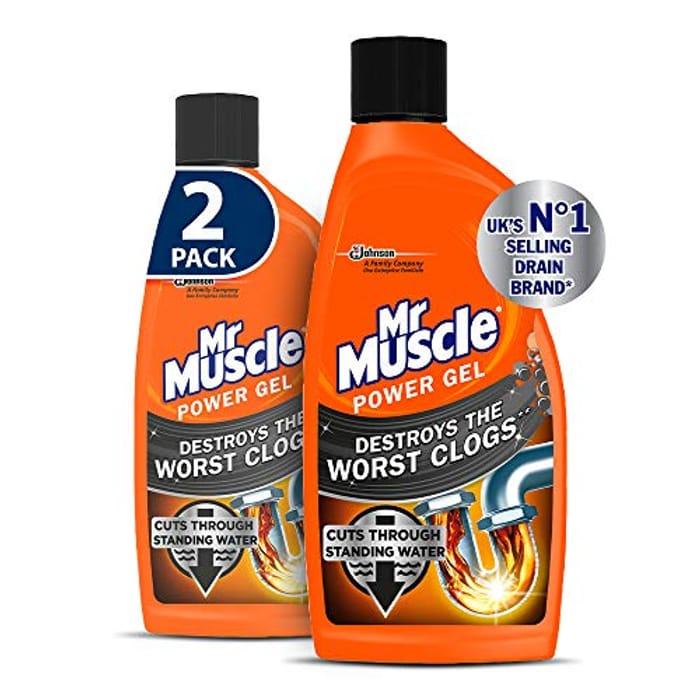 Mr Muscle Drain Unblocker,Power Gel, 2 X 500 Ml