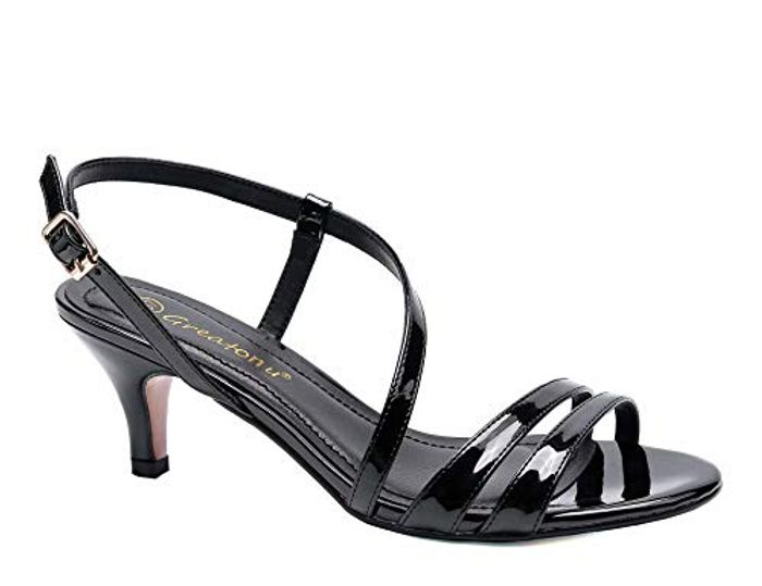 Womens Strappy Sandals Slingback Kitten Heels Sandals Size 4