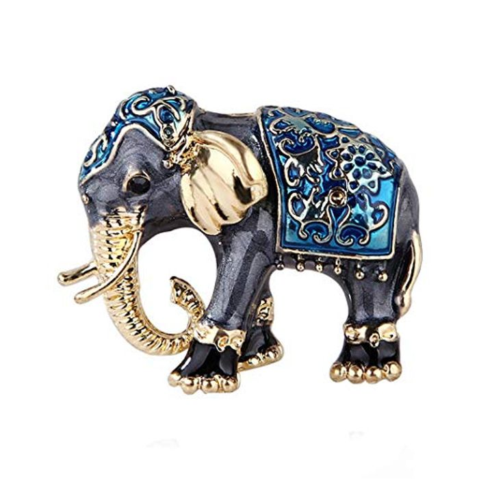Elephant Animal Brooch