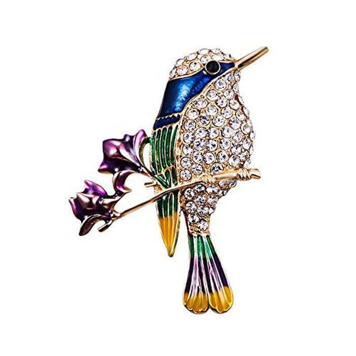 Branch Flower Bird Brooch