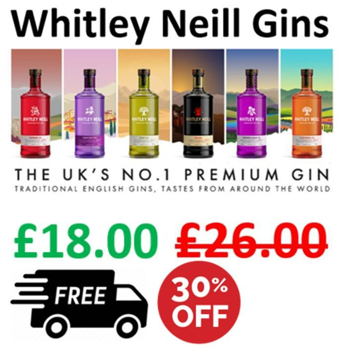£8 off -Whitley Neill Gin + FREE PRIME DELIVERY
