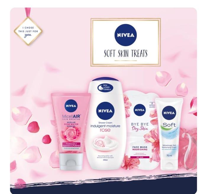 Nivea Soft Skin Treats Gift Set, Extra 10% Off Code WELCOME10