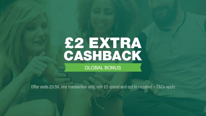 £2 Bonus Cashback on a £5 Spend