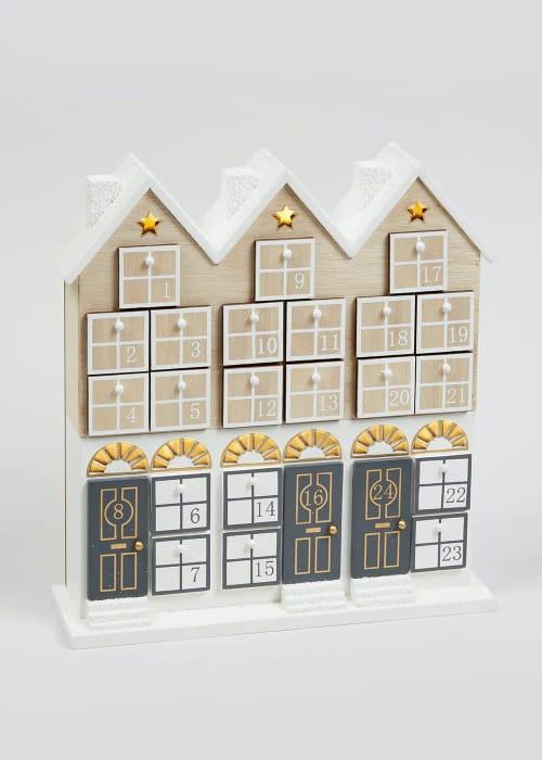 50% off Light-up Wooden House Advent Calendar