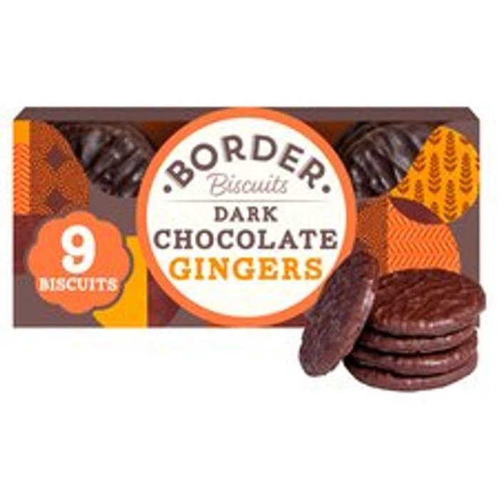Border Biscuits Dark Chocolate Ginger 150G - Clubcard Price £1