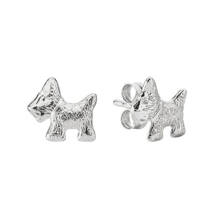 Revere Sterling Silver Scottie Dog Stud Earrings