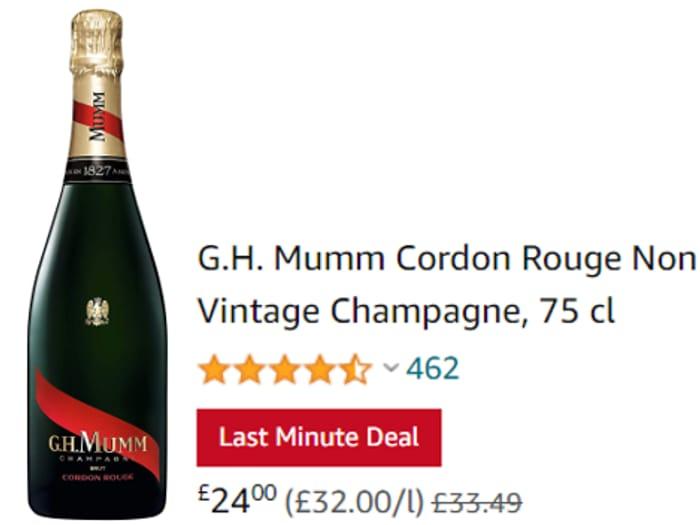 G.H. Mumm Cordon Rouge Non Vintage Champagne, 75 Cl