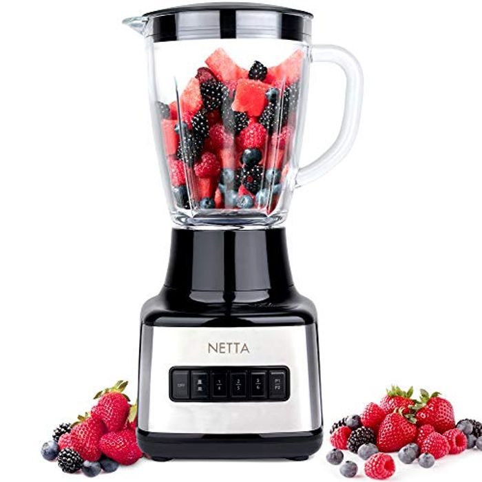 NETTA Table Blender - Smoothie Maker with Glass Jug -