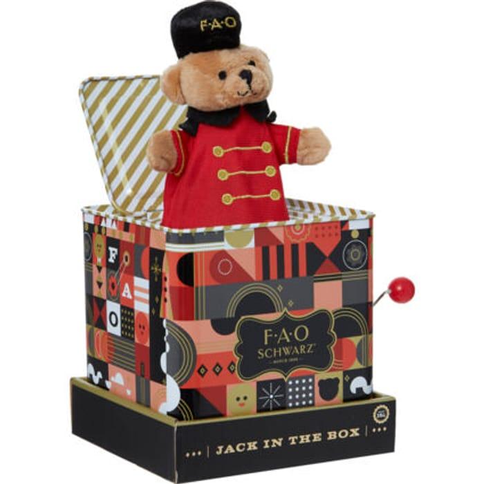 FAO SCHWARZ Red & Black Jack in the Box