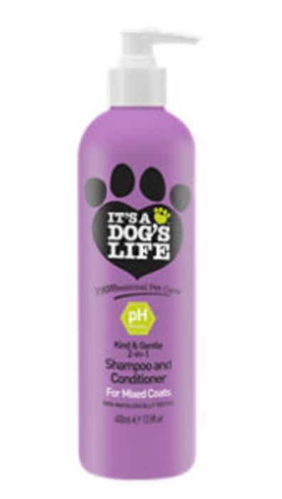 It's a Dog's Life Pawfessional Pet Care 2in1 Shampoo All Coats 400ml