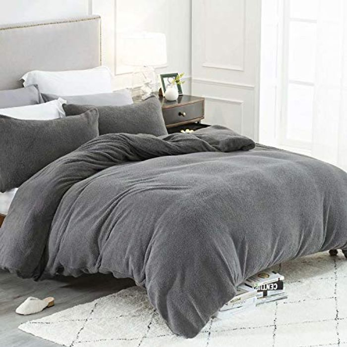 50% off Bedsure Fleece Duvet Cover Set