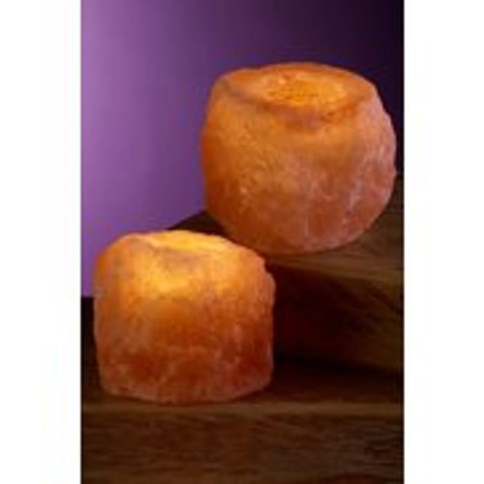 Cheap Pair of Himalayan Rock Salt Tealight Holders at Studio