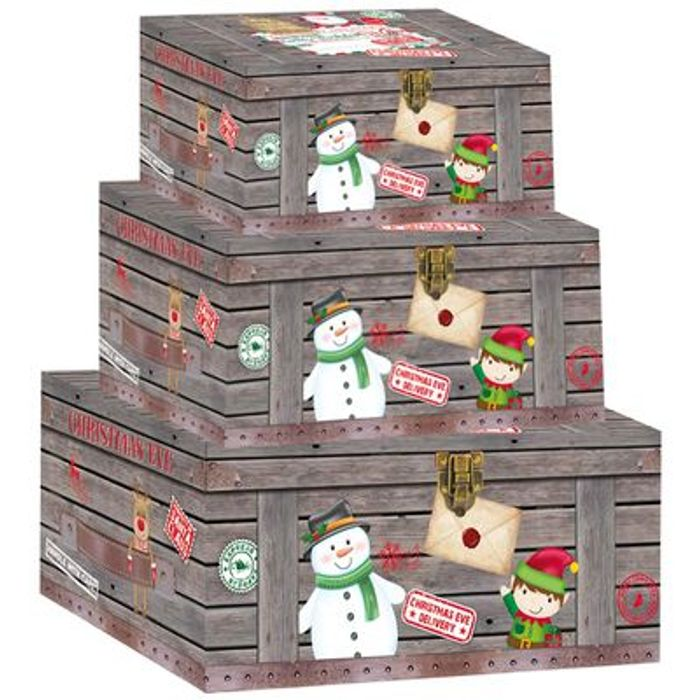 Santa's Workshop Christmas Boxes: Pack of 3