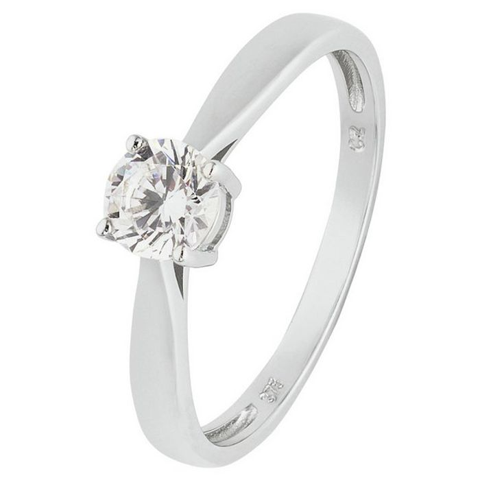 Revere 9ct White Gold 5 Carat Look Cubic Zirconia Ring - N821/2261