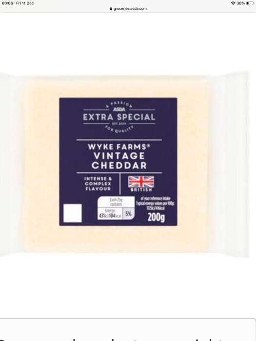 ASDA Extra Special Wyke Farms Vintage Reserve Cheddar Cheese