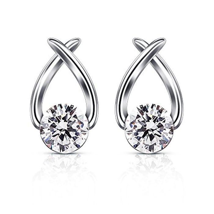 LIGHTNING DEAL - B.Catcher 925 Sterling Stud Earrings
